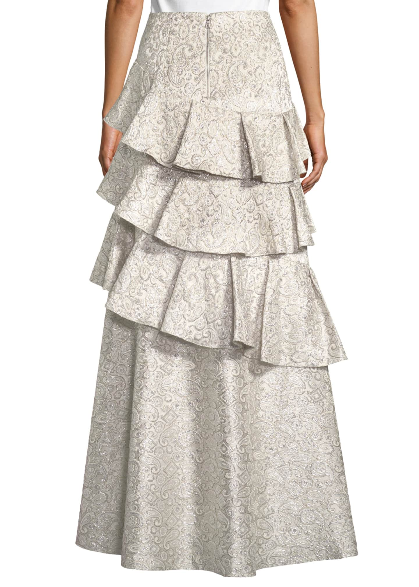 Image 2 of 4: Flossie Ruffle Tiered Ball Gown Skirt