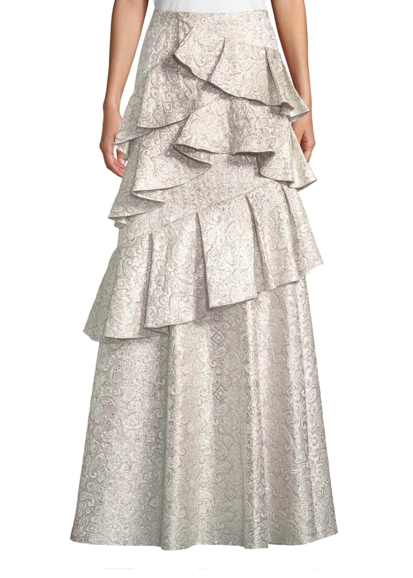 Image 1 of 4: Flossie Ruffle Tiered Ball Gown Skirt
