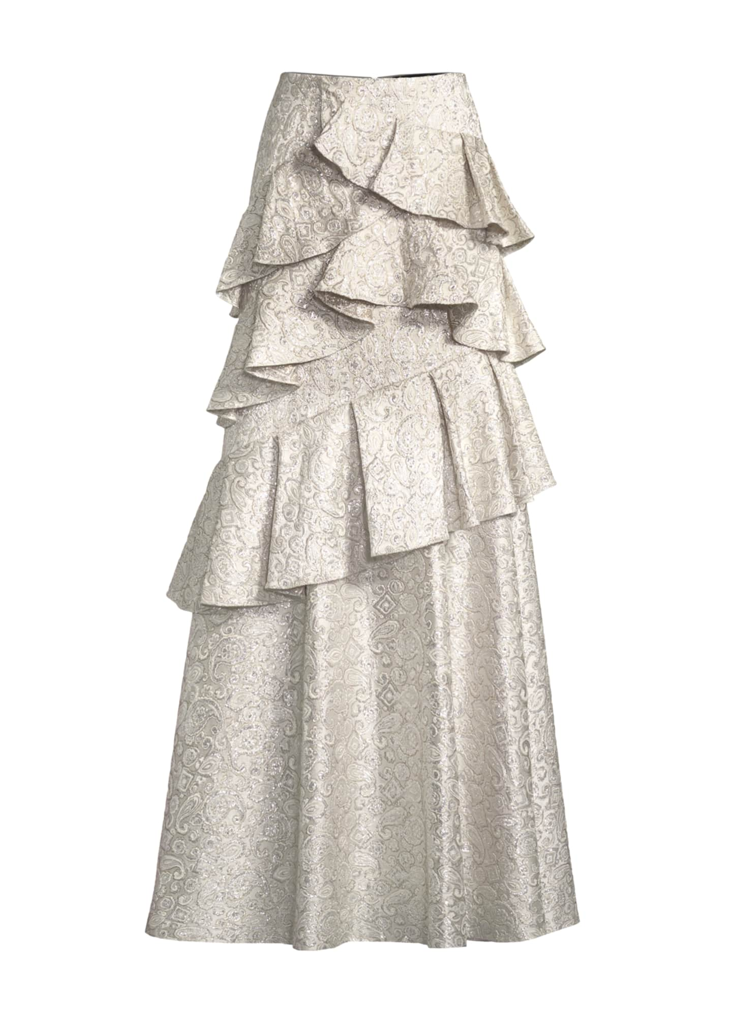 Image 4 of 4: Flossie Ruffle Tiered Ball Gown Skirt
