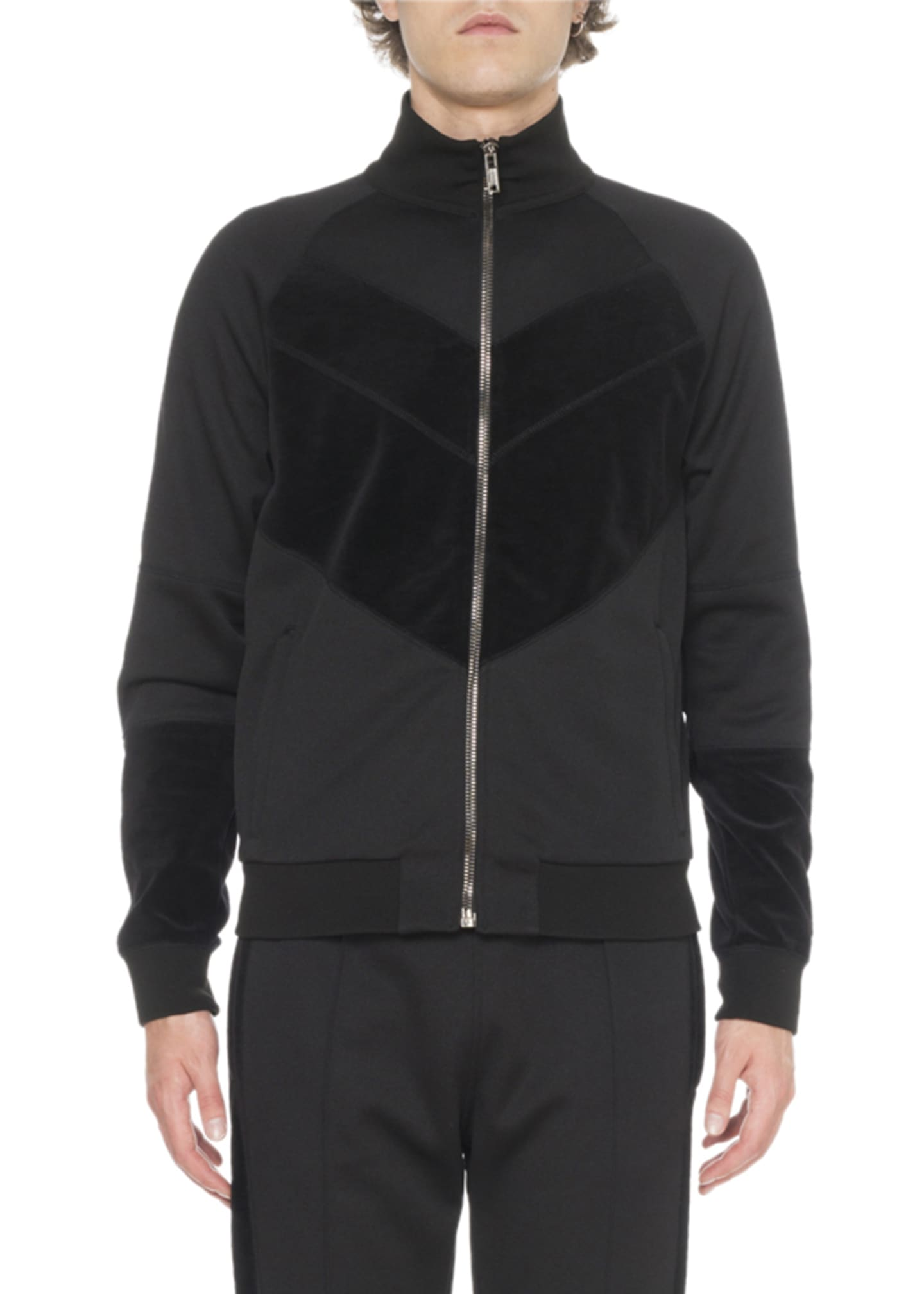 Givenchy Men's Velvet Track Jacket