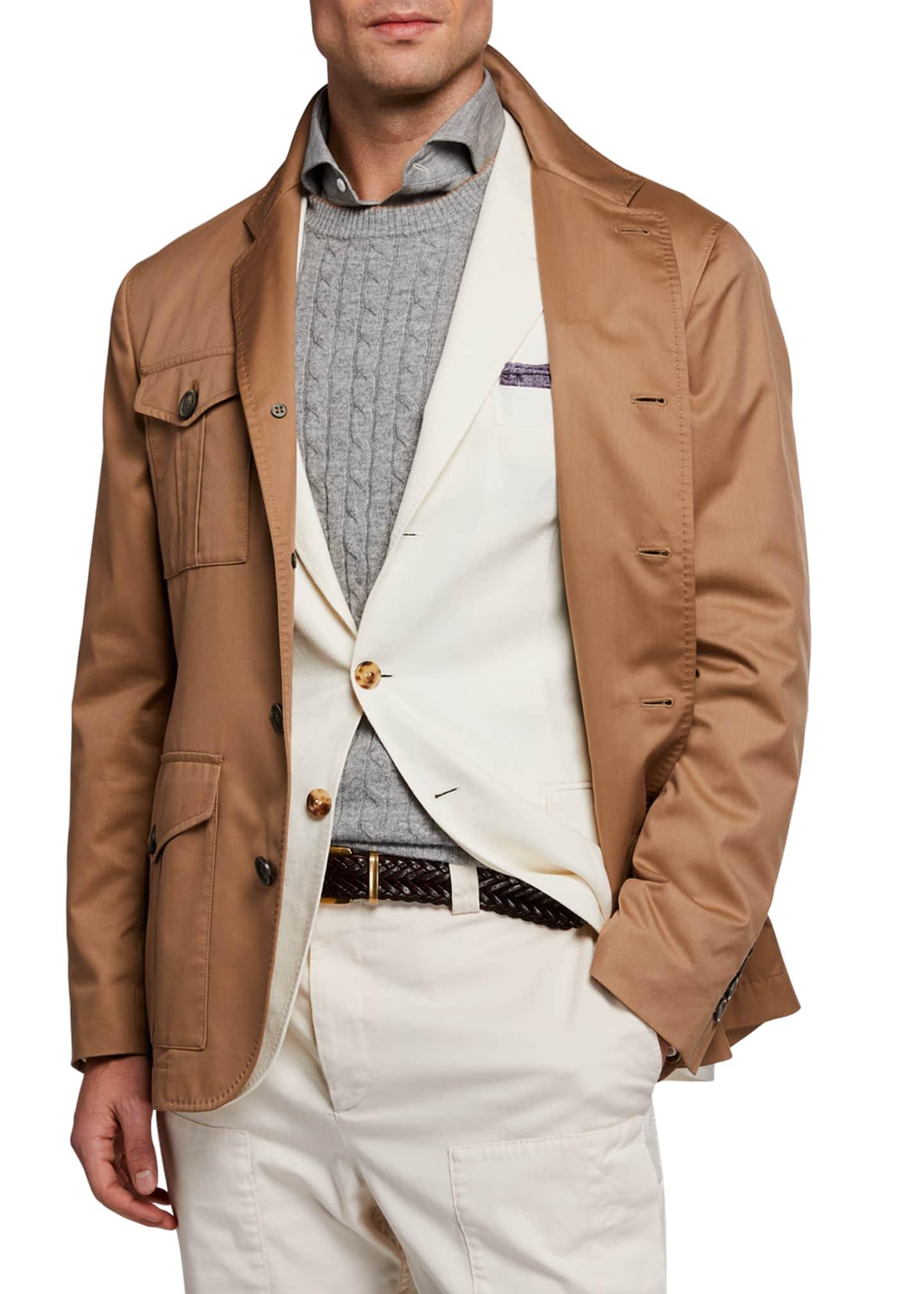 Brunello Cucinelli Men's Safari Silhouette Solaro Jacket