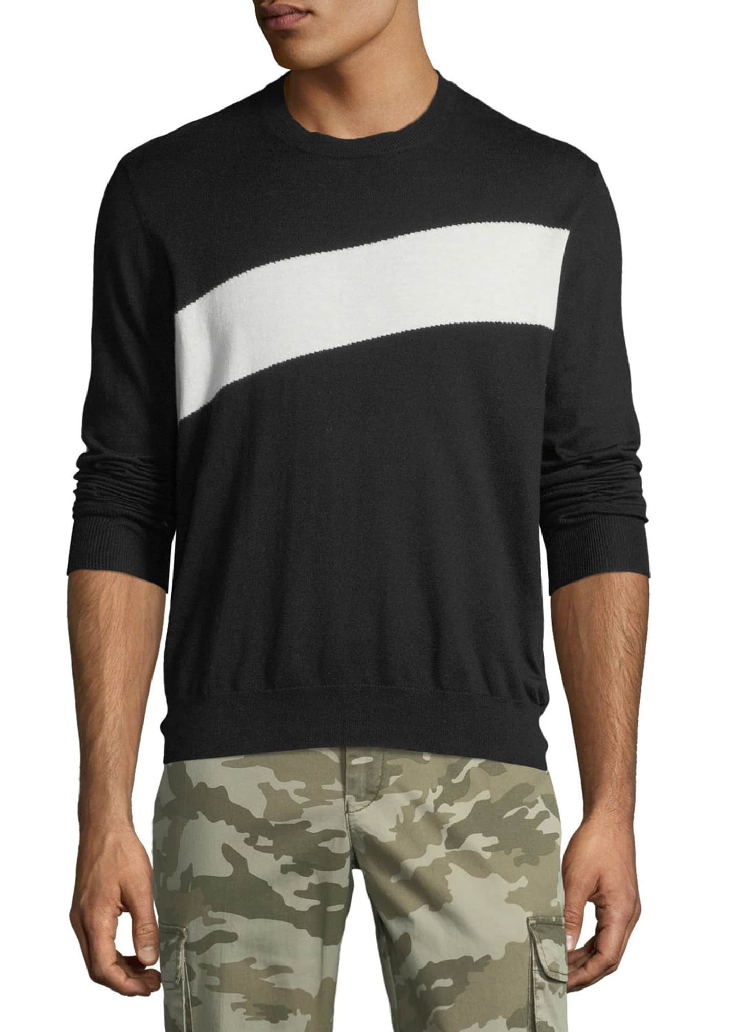 ATM Anthony Thomas Melillo Men's Crewneck Sweater with