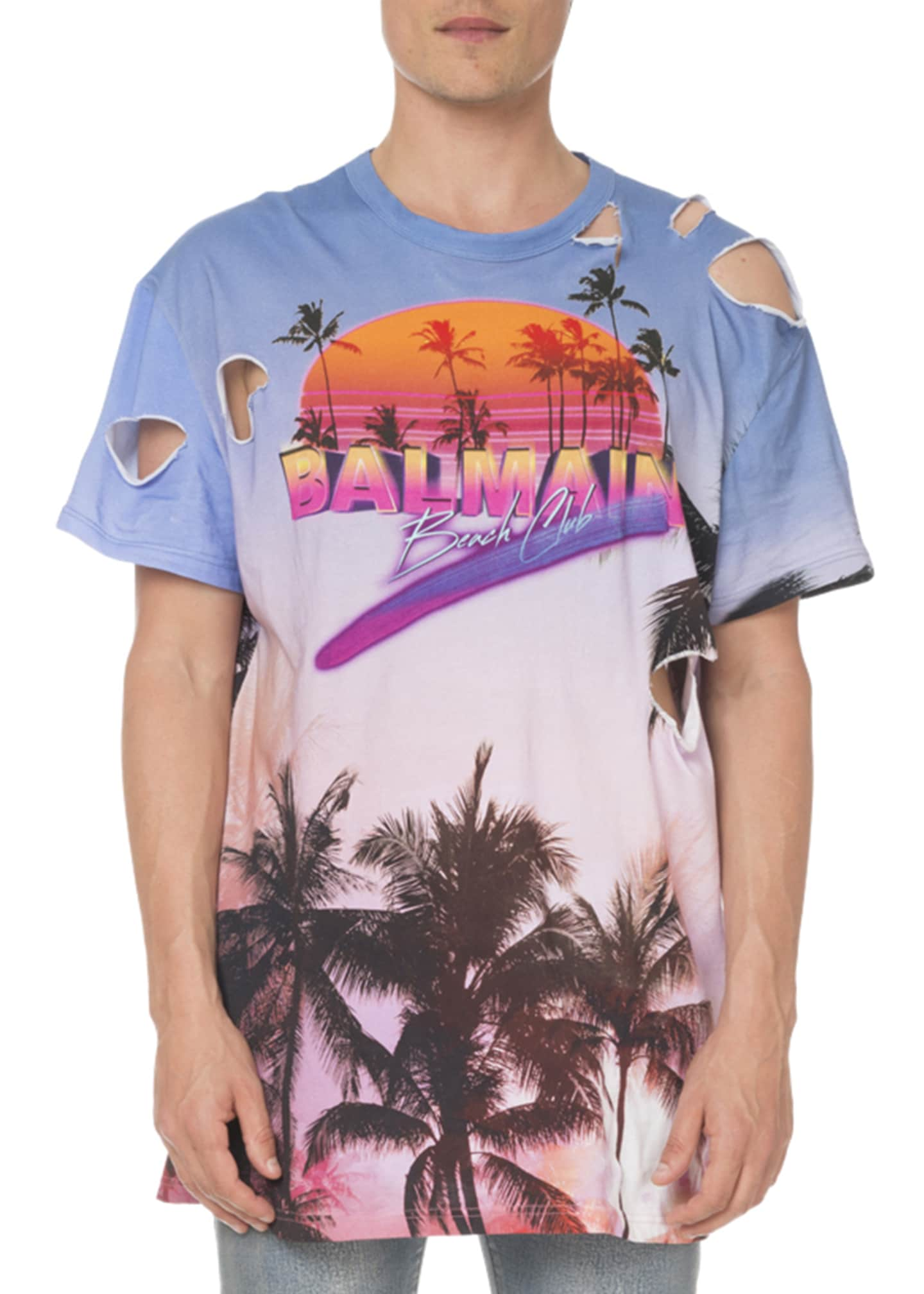 Balmain Men's Oversized Beach Club T-Shirt
