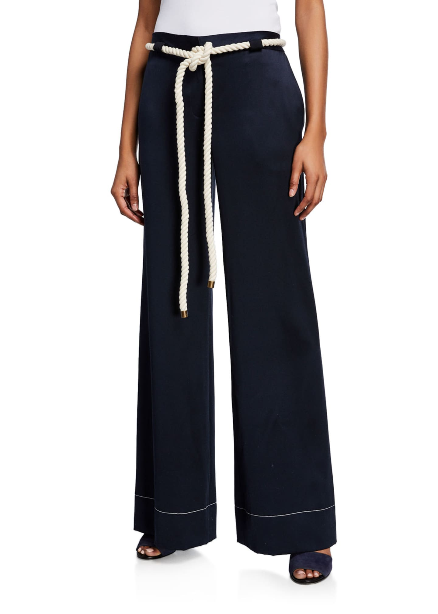 Monse Rope-Belted Wide Leg Pants