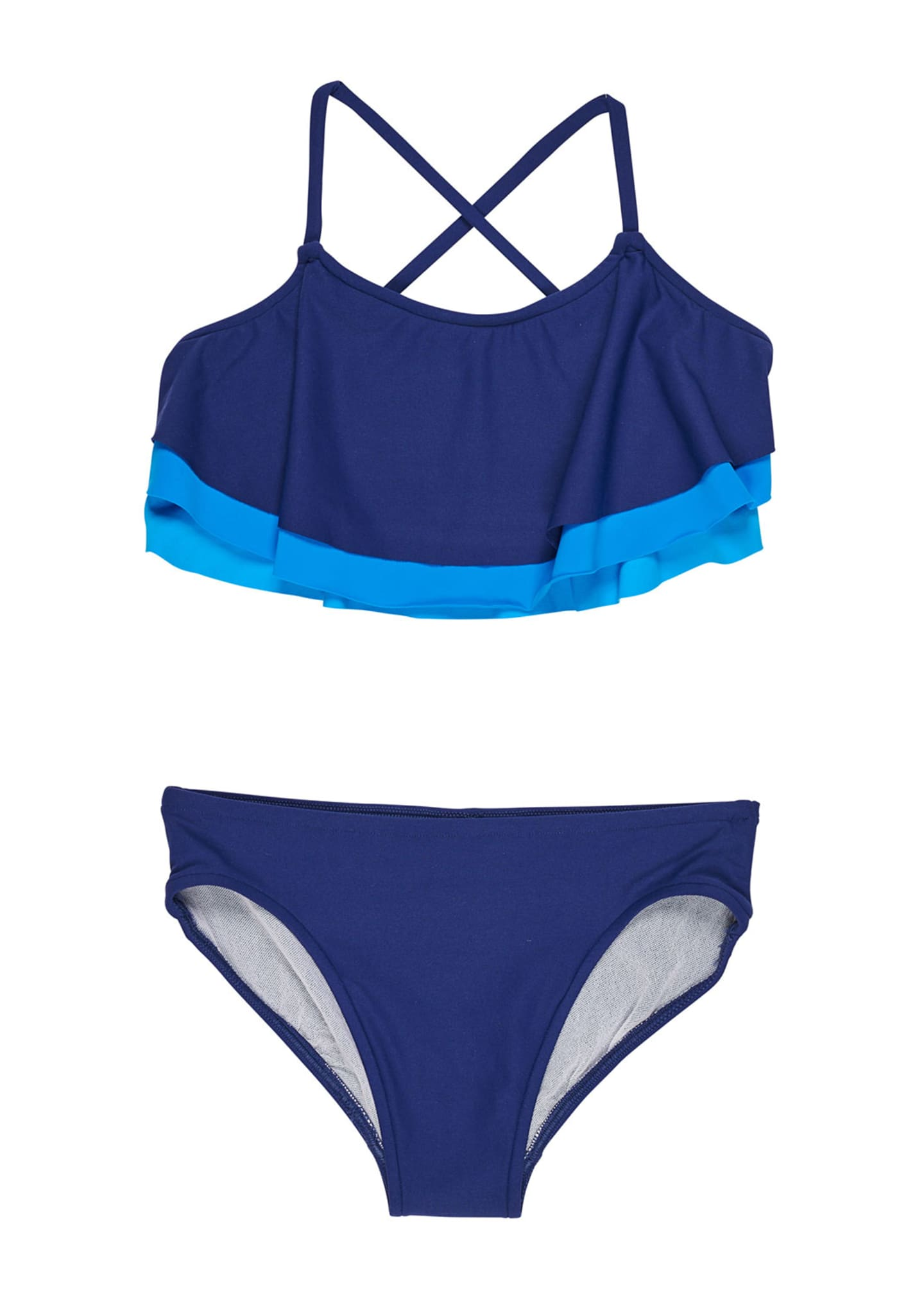 Florence Eiseman Shades of Blue Two-Piece Swimsuit, Size