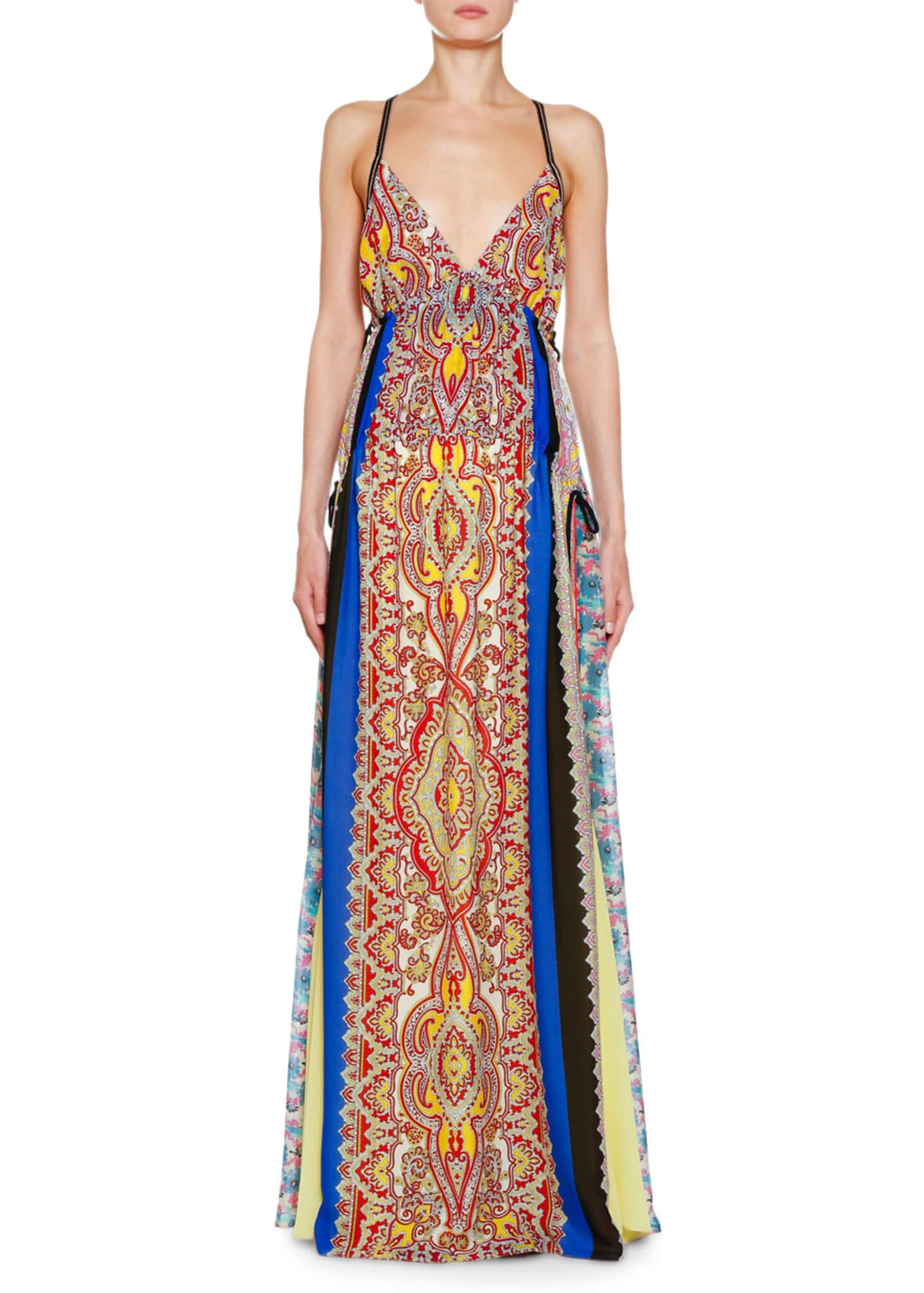 Etro Pacific Print Silk Georgette Gown