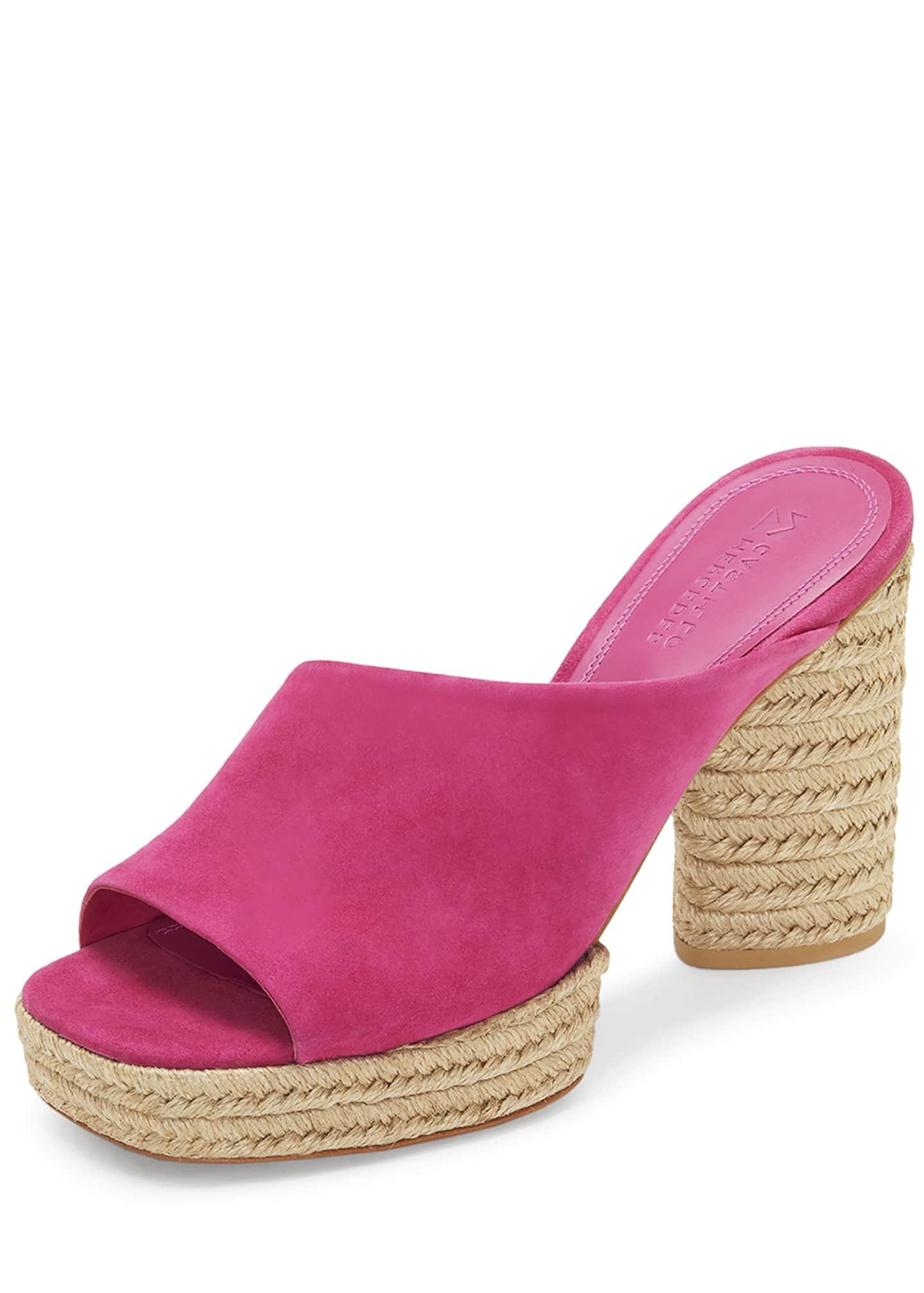 Mercedes Castillo Rocio Suede Braided-Platform Sandals