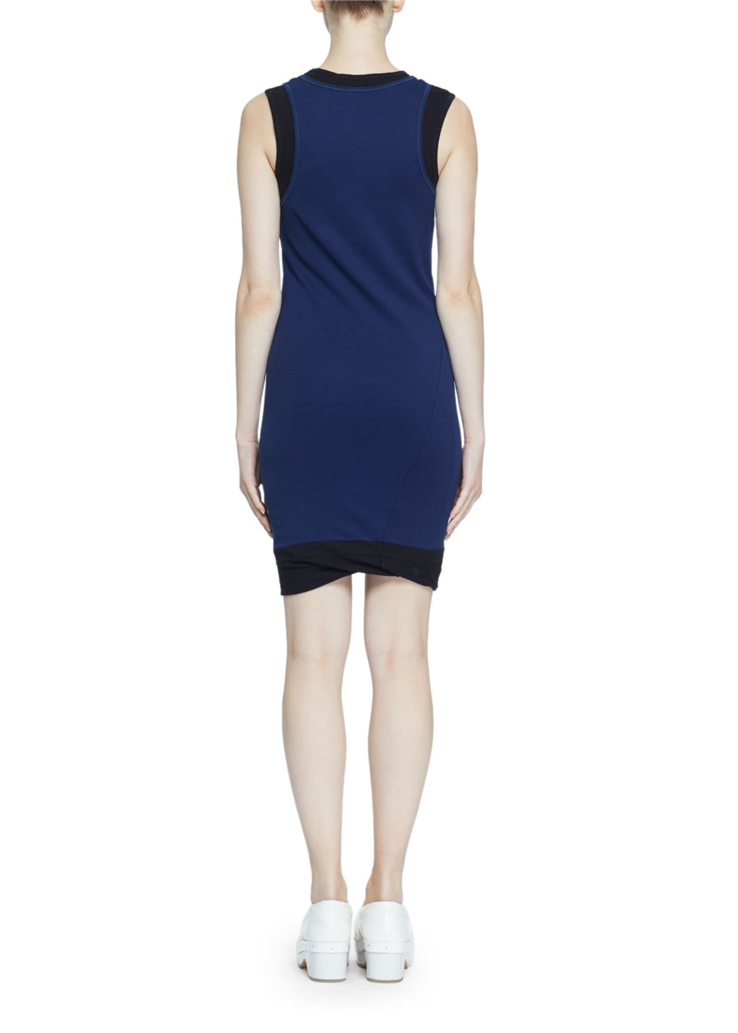 Image 2 of 2: Double-Layer Fine Rib Jersey Tank Dress