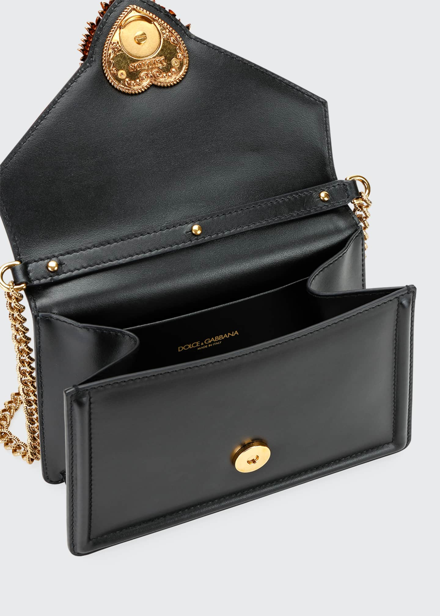 Image 2 of 5: Devotion Mini Leather Top-Handle Bag