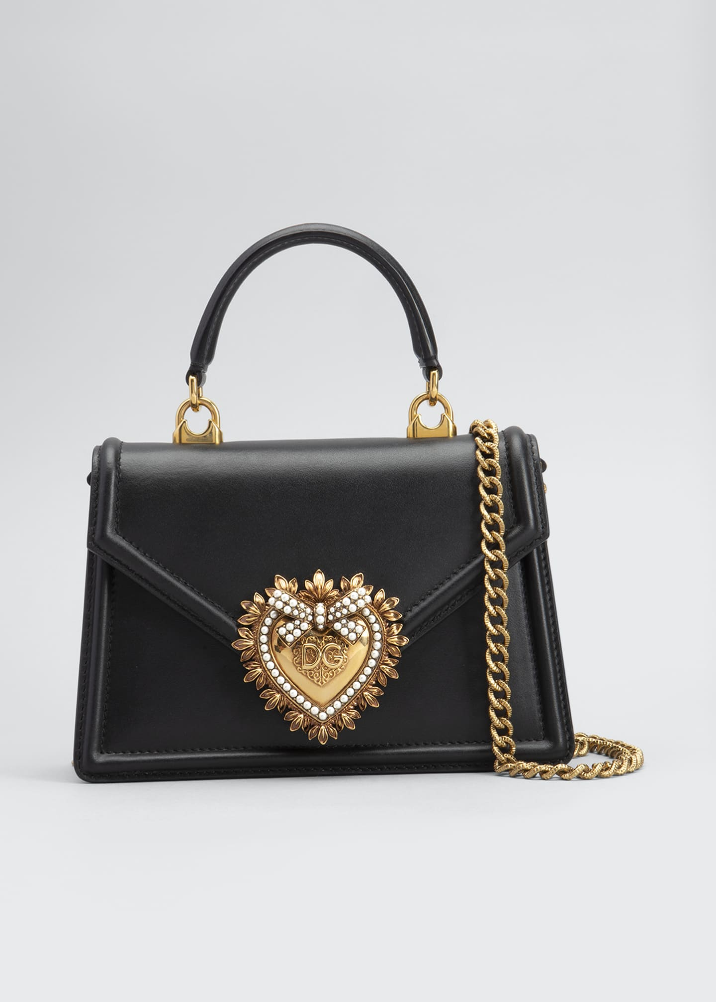 Image 1 of 5: Devotion Mini Leather Top-Handle Bag
