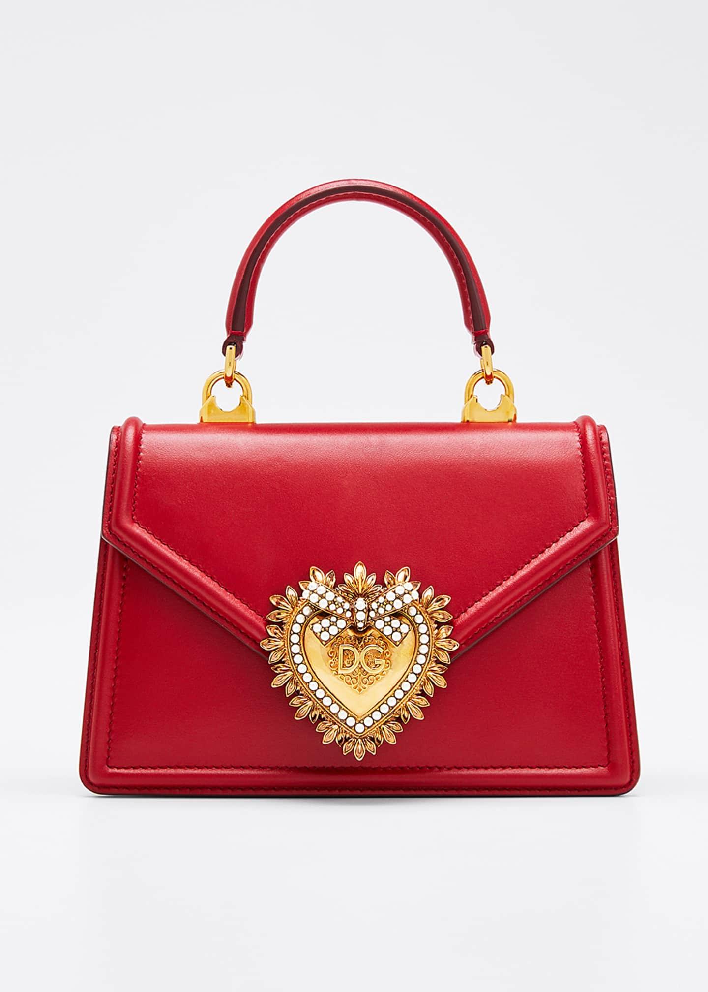 Dolce & Gabbana Devotion Mini Leather Top-Handle Bag