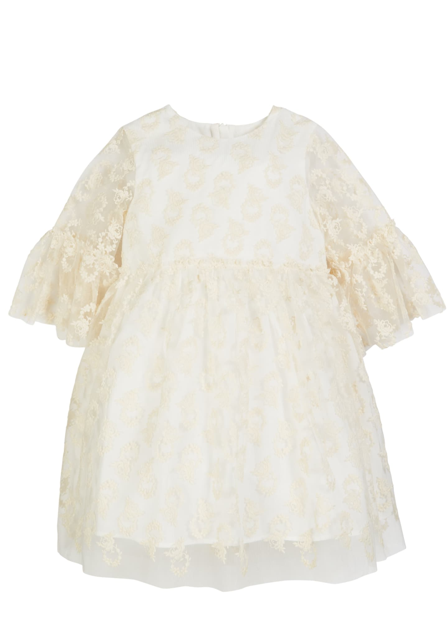 Charabia 3/4-Sleeve Lace Dress, Size 2-4