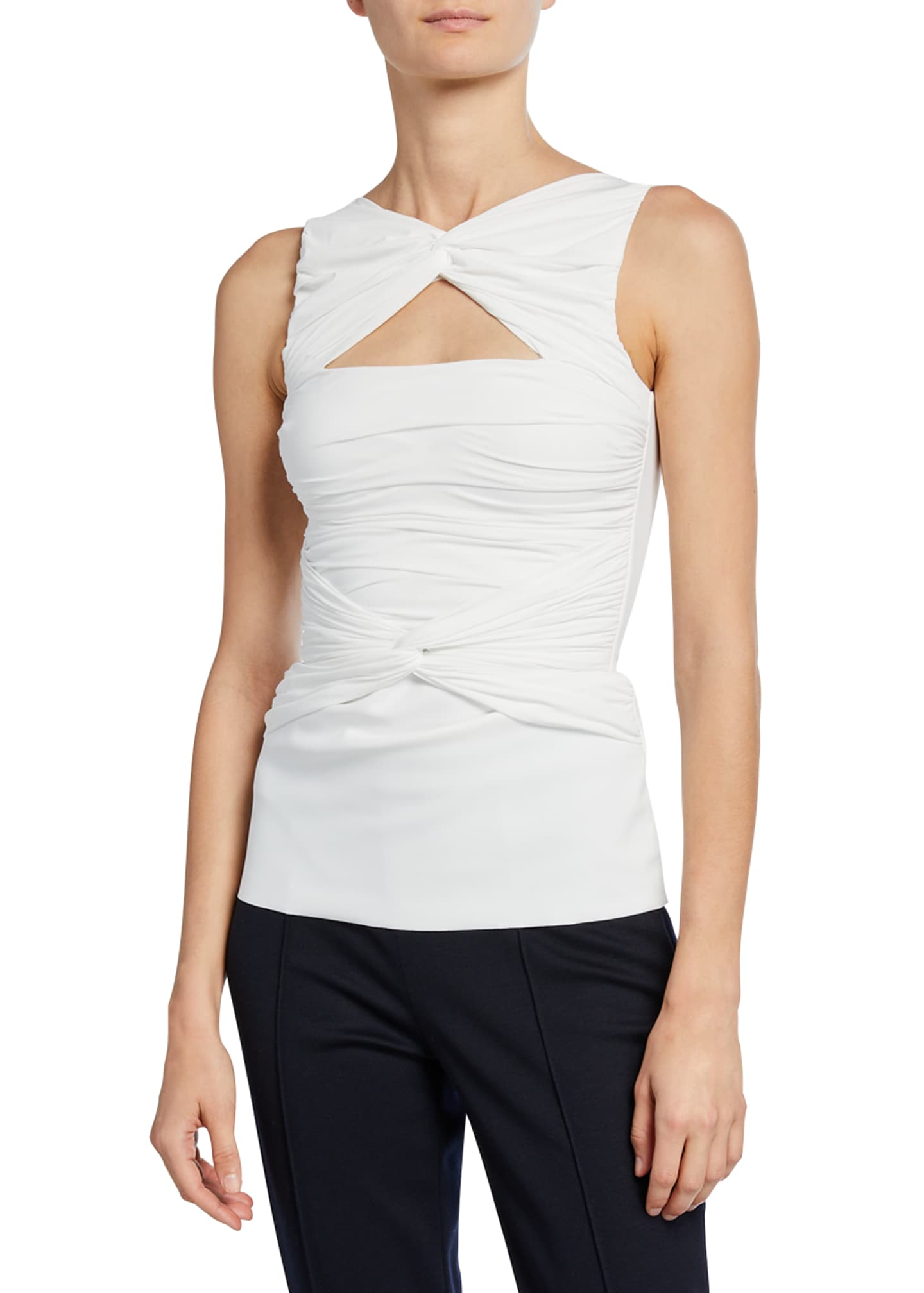 Chiara Boni La Petite Robe Puk Sleeveless Shirred