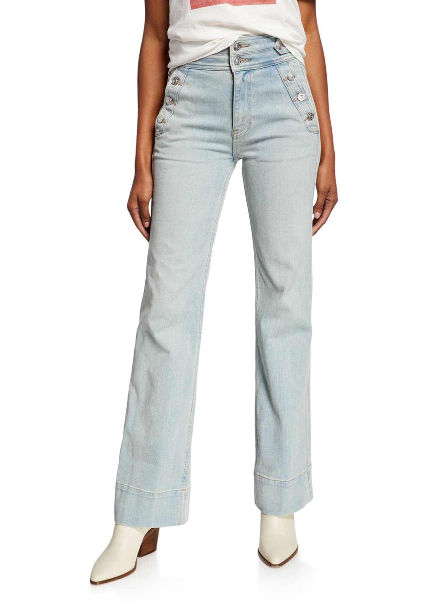 Image 1 of 3: The Maritime High-Rise Flared Jeans