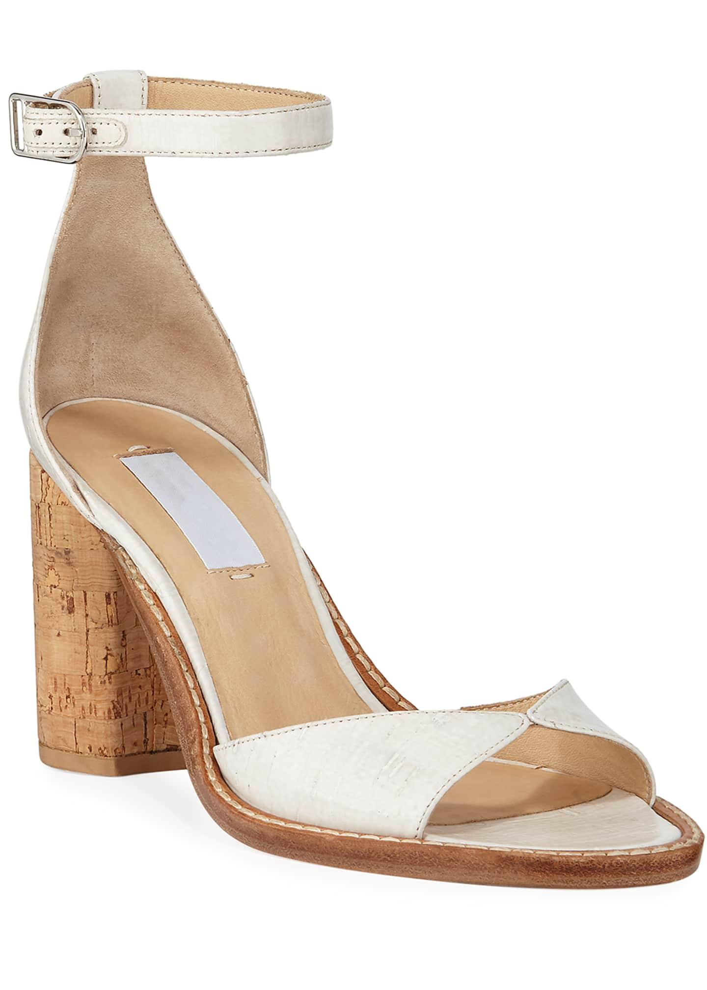 Gabriela Hearst Adi Leather Ankle Sandals
