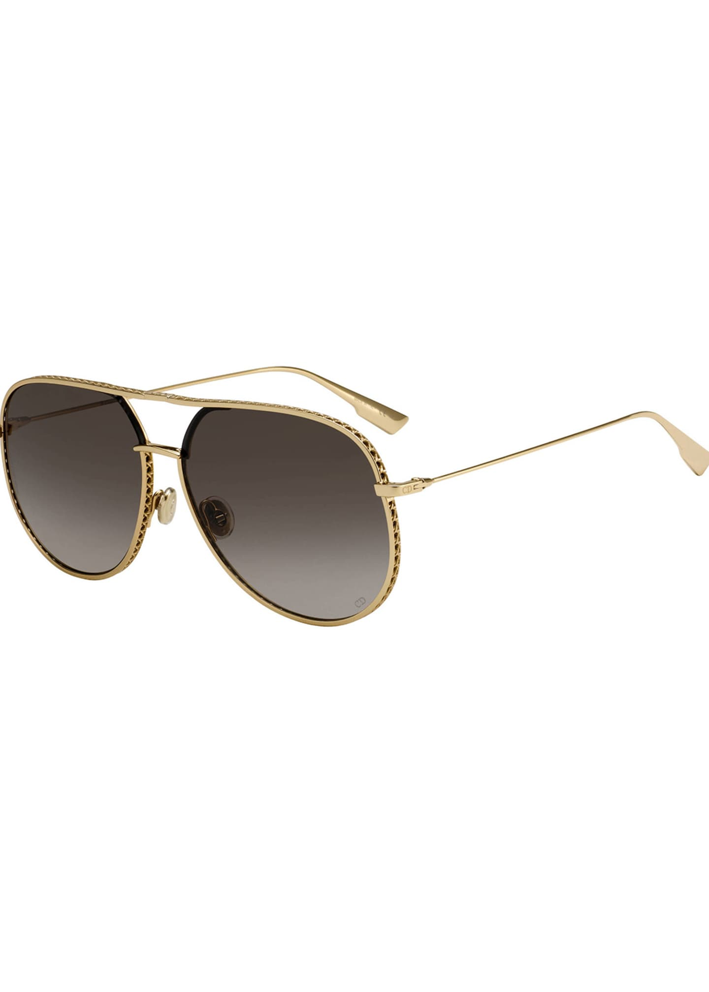 Dior Aviator Cutout Metal Sunglasses