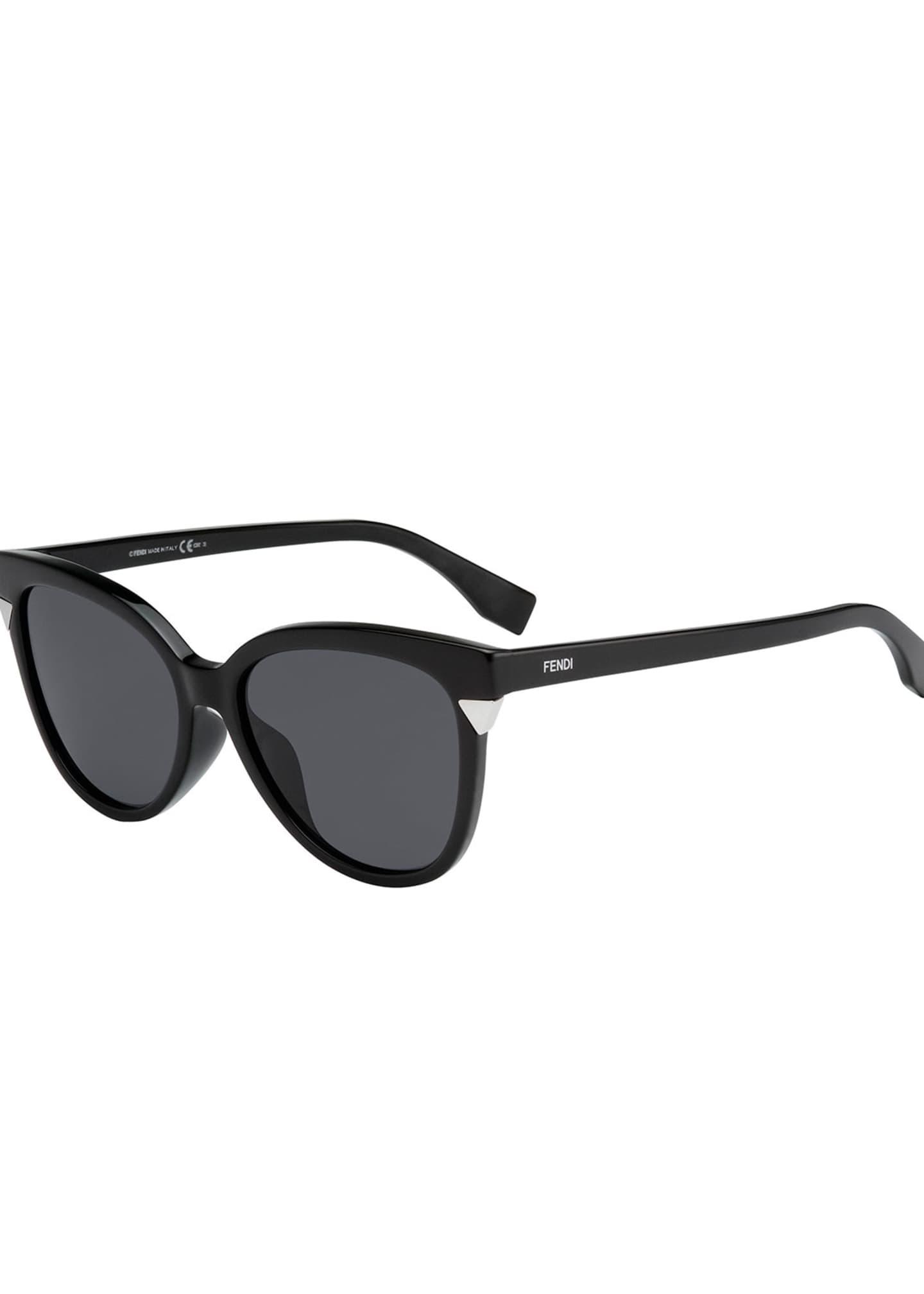 Fendi Round Monochromatic Sunglasses