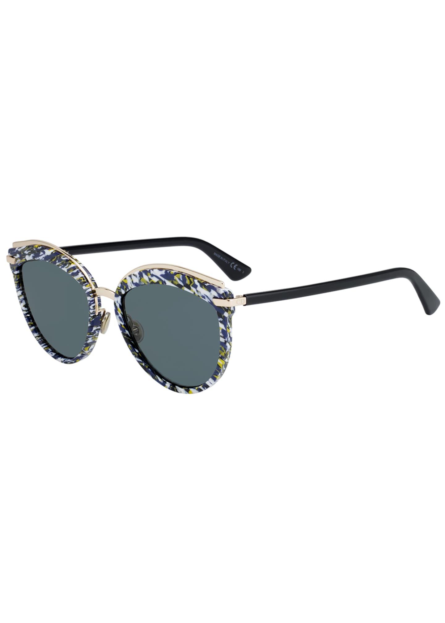 Dior Offset2 Round Acetate & Metal Sunglasses
