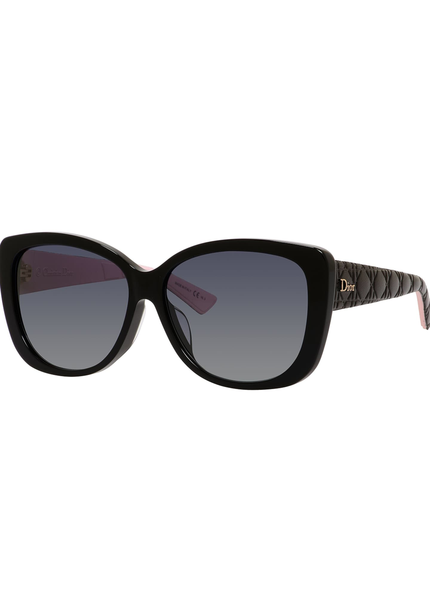 Dior Lady2RFS Square Quilted Acetate Sunglasses