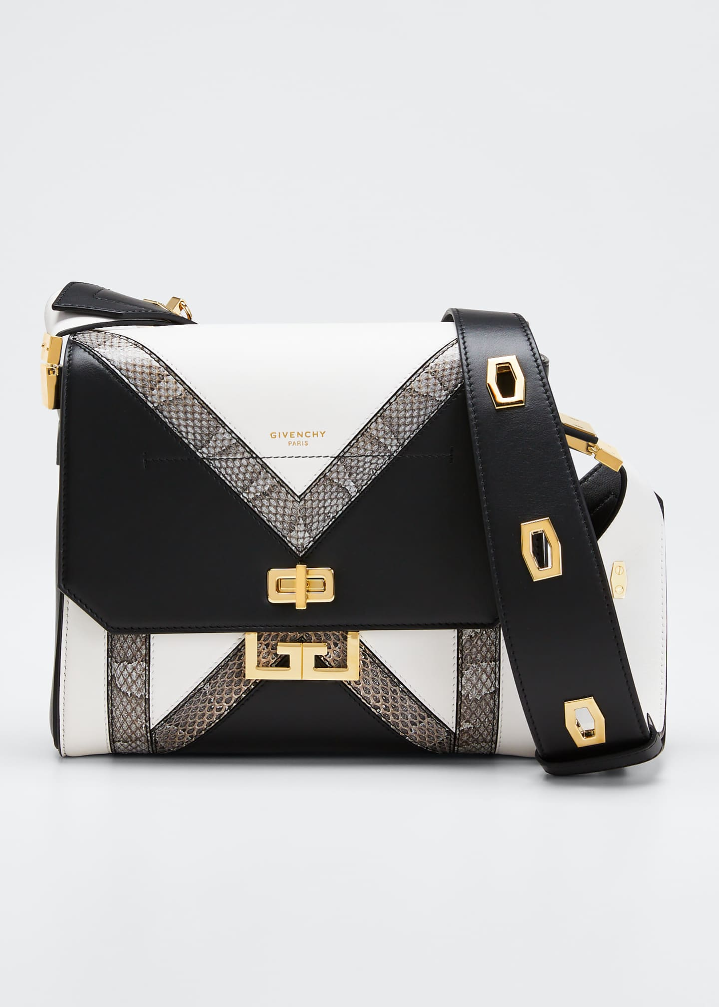 Givenchy Eden Medium Colorblock Snakeskin Shoulder Bag