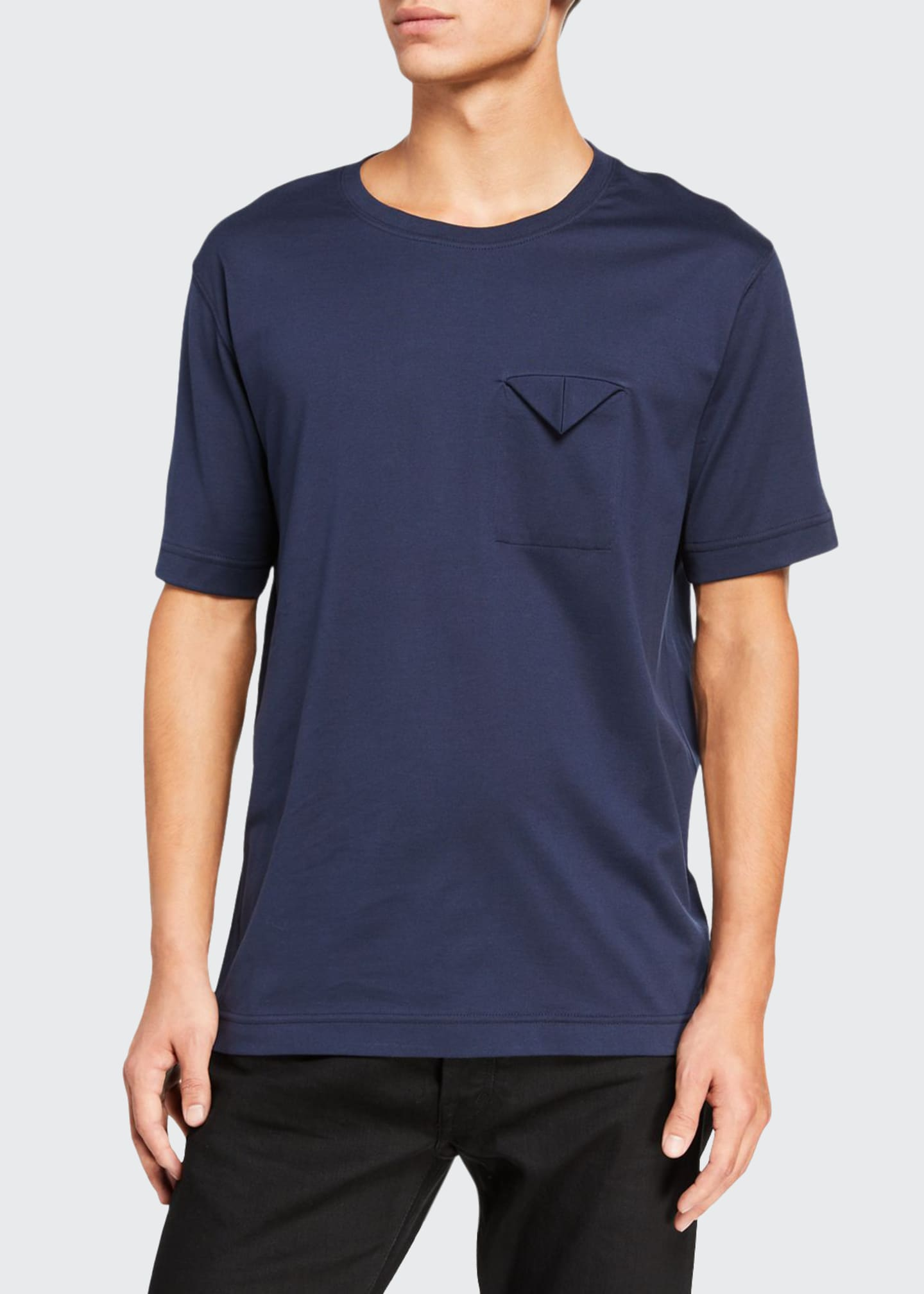 Bottega Veneta Men's Folded-Pocket Crewneck T-Shirt