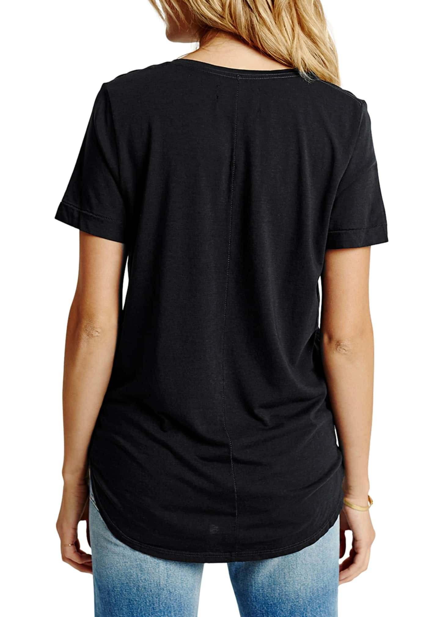 Image 2 of 2: Sol Essential Torque Short-Sleeve V-Neck Tee