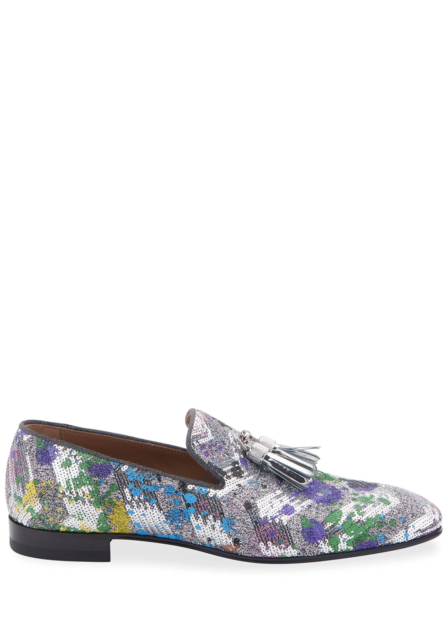 Image 2 of 2: Men's Rivalion Graphic Sequined Tassel Loafers