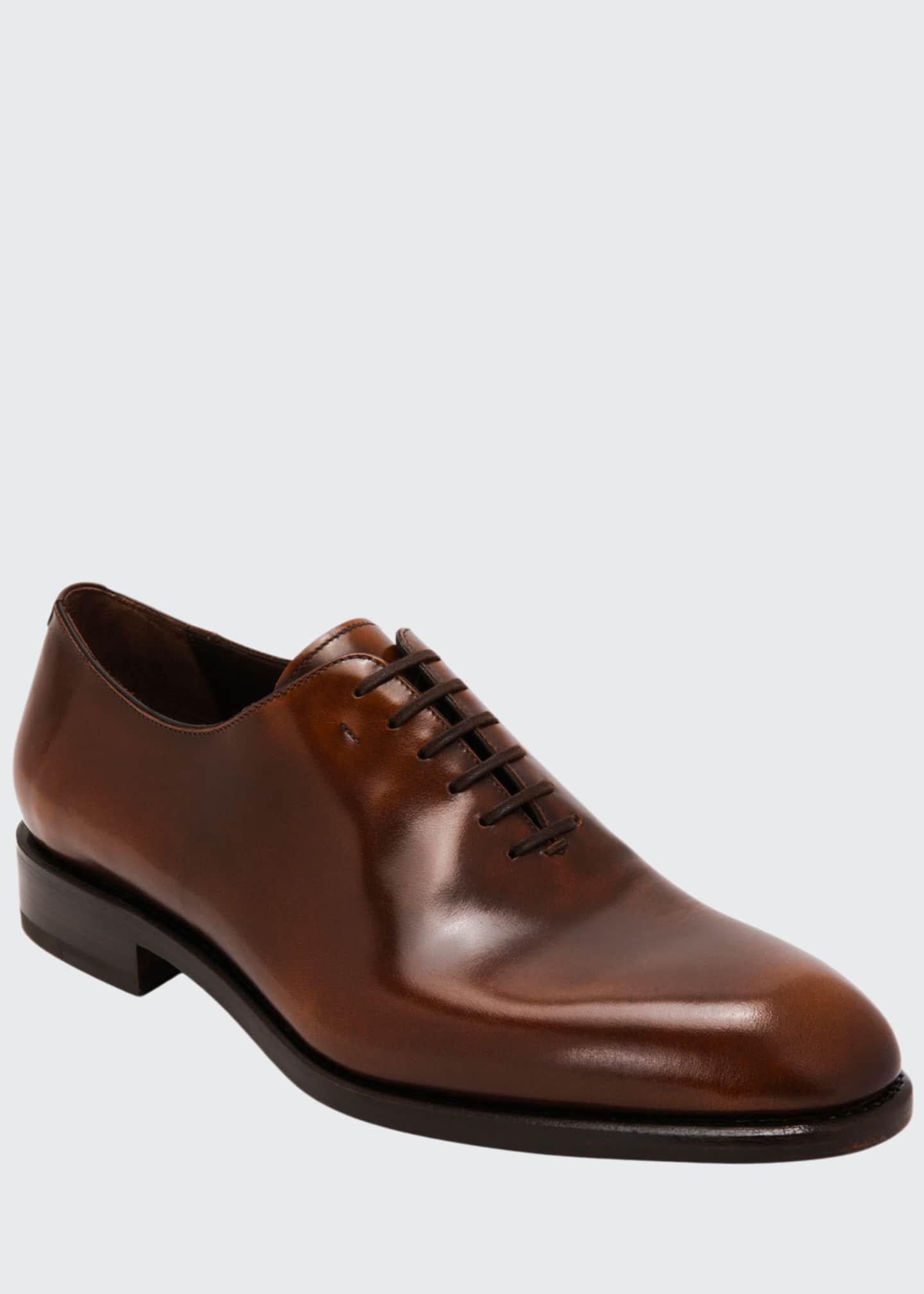 Salvatore Ferragamo Men's Angiolo Tramezza Whole-Cut Leather