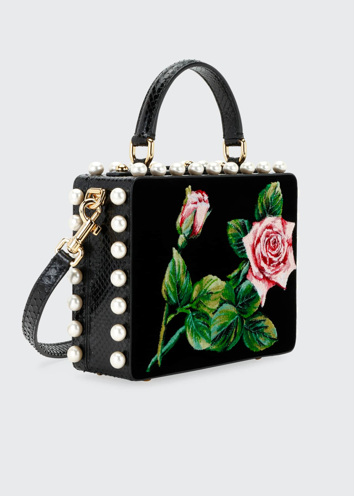 Image 3 of 3: Tropical Rose Mini Top-Handle Bag