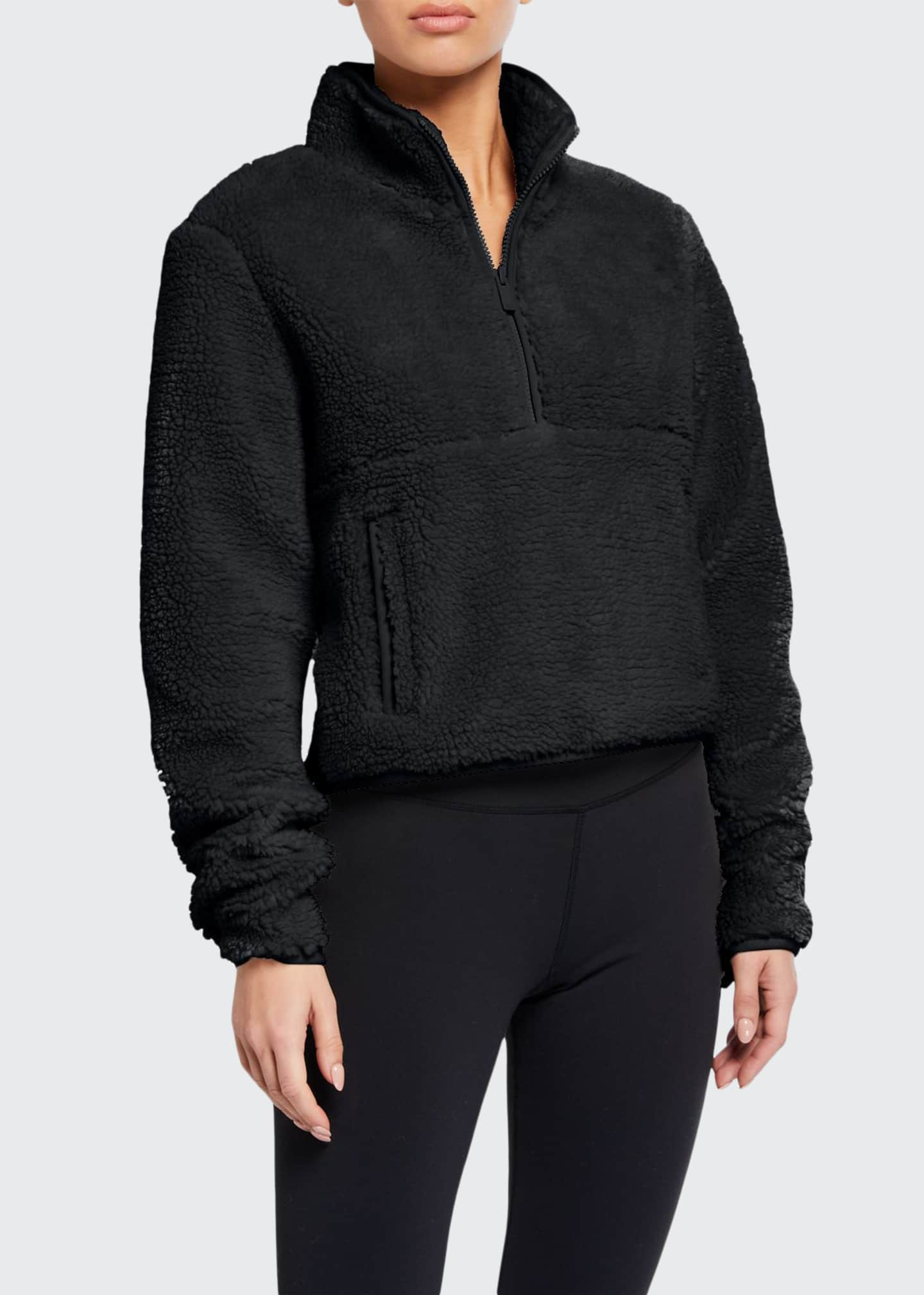 Alo Yoga Shanti Half-Zip Sherpa Fleece Jacket