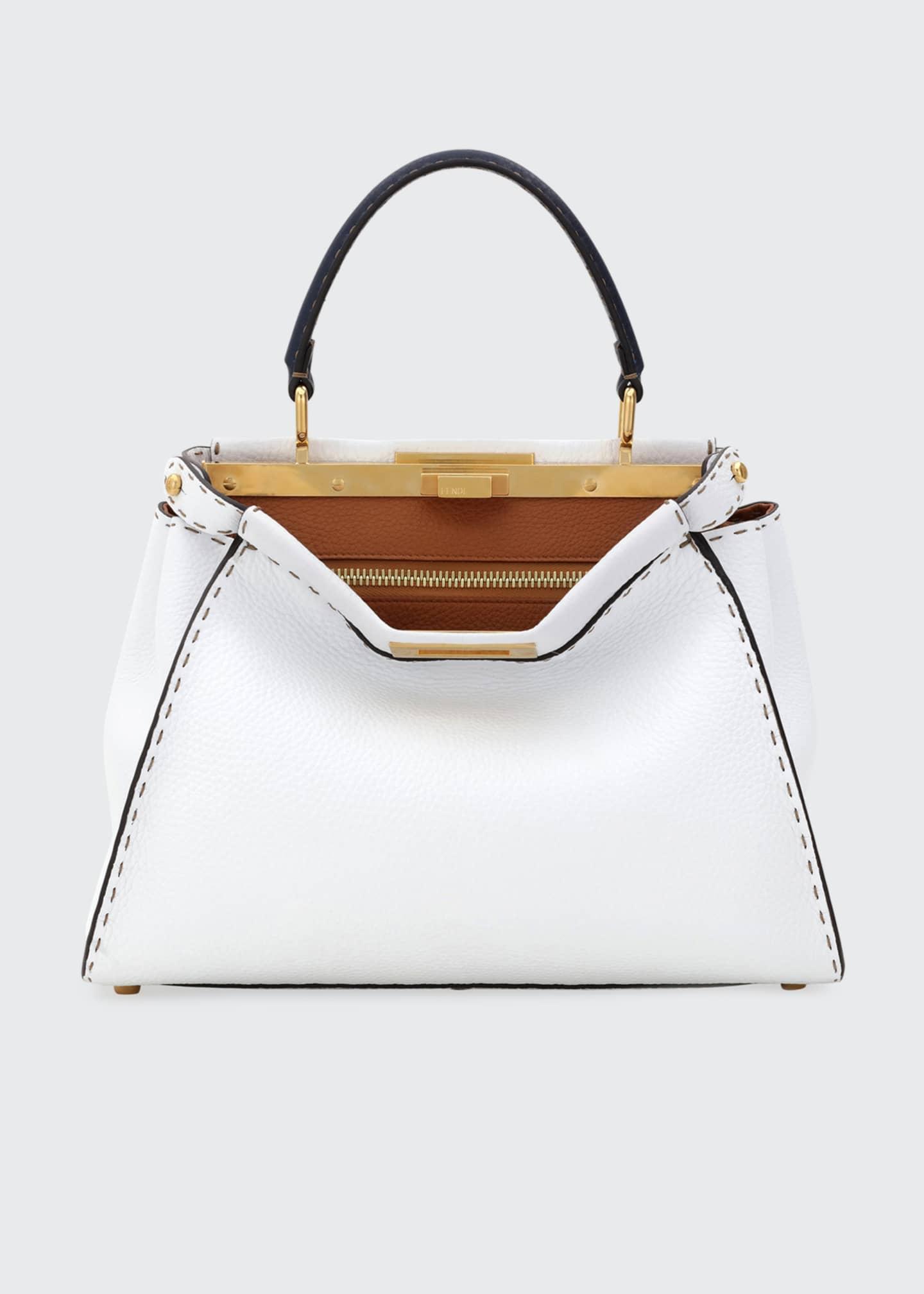 Fendi Peekaboo Medium Tricolor Leather Satchel Bag