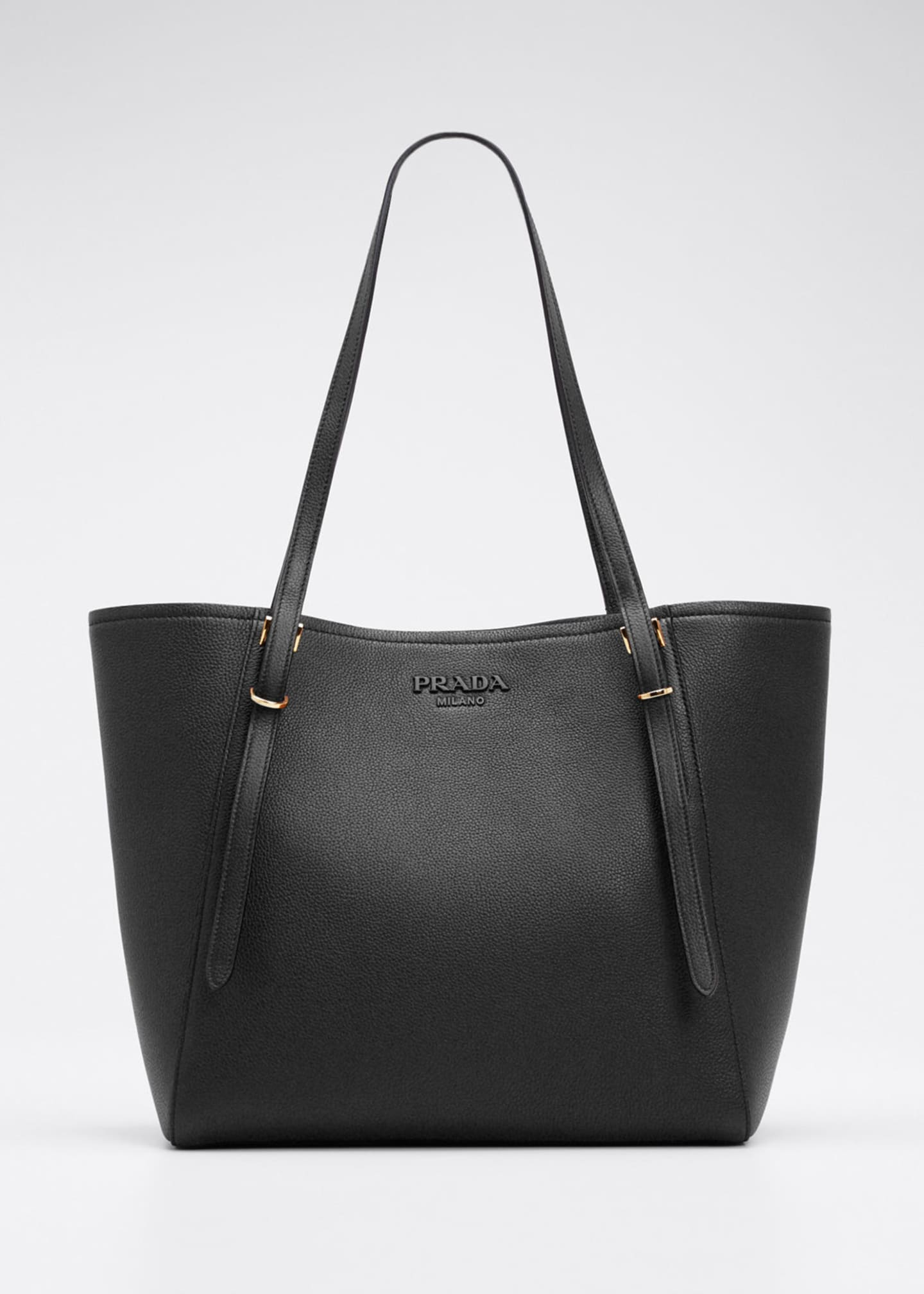 Prada Leather Shopper Tote Bag