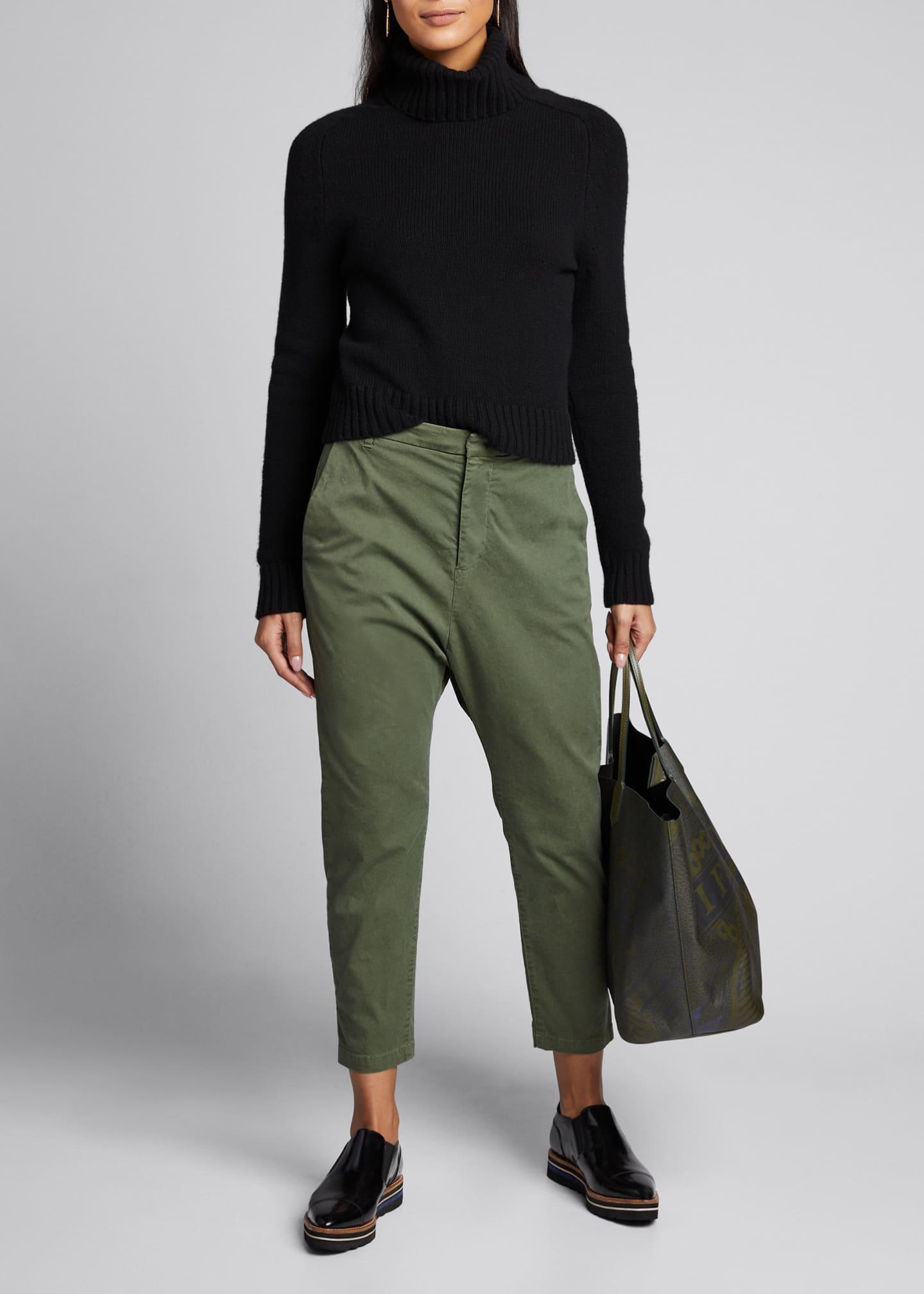 Nili Lotan Paris Straight-Leg Cropped Pants