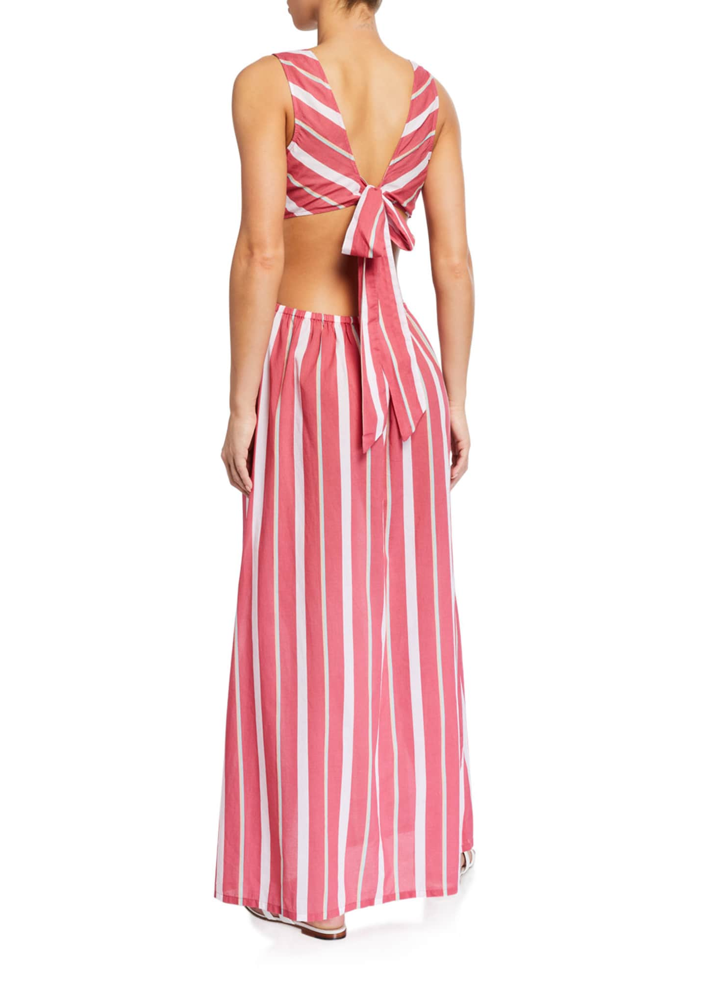 Image 2 of 2: Chile Striped Tie-Back Maxi Dress
