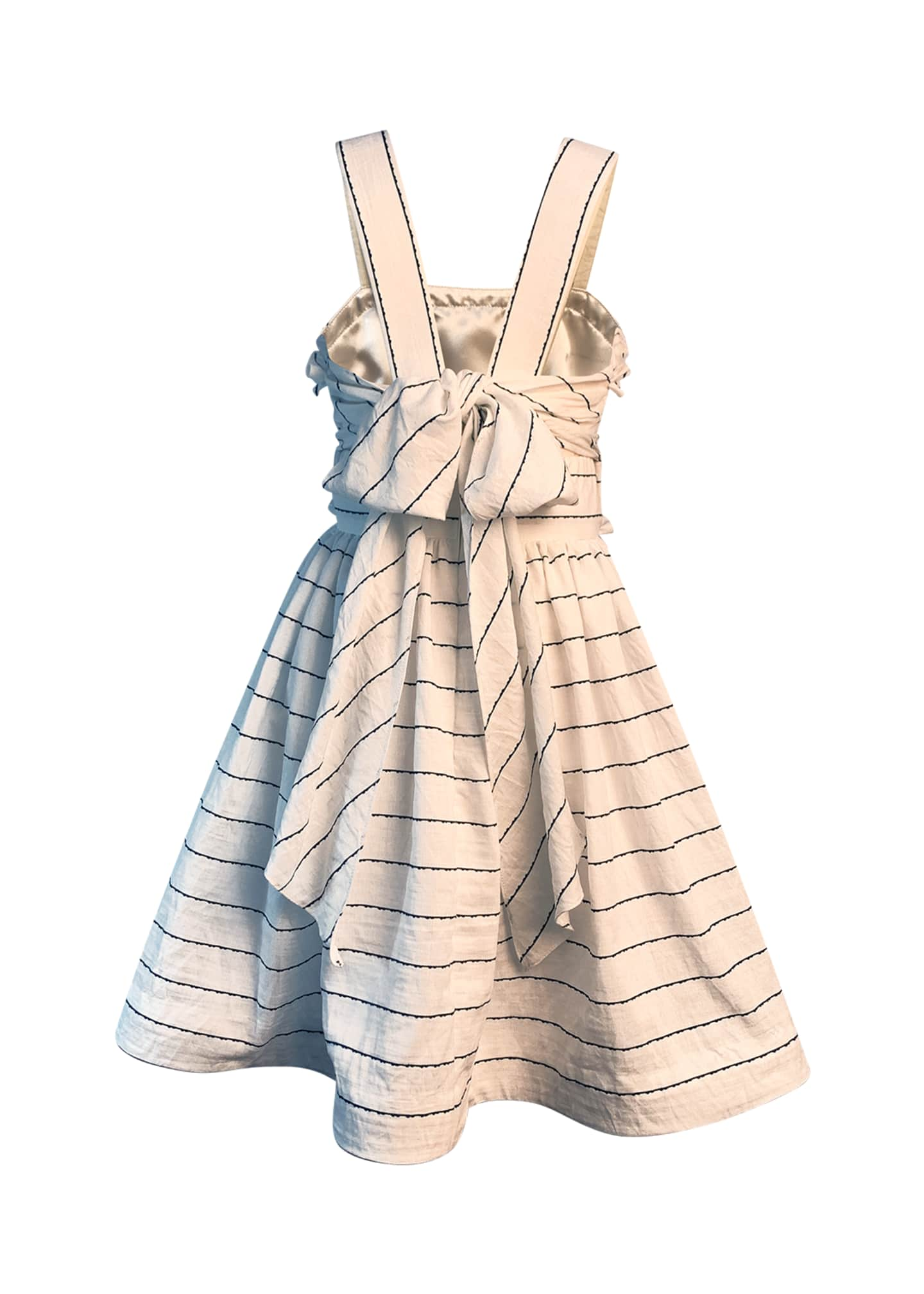 Image 2 of 2: Girl's Wavy Striped Sun Dress, Size 2-6