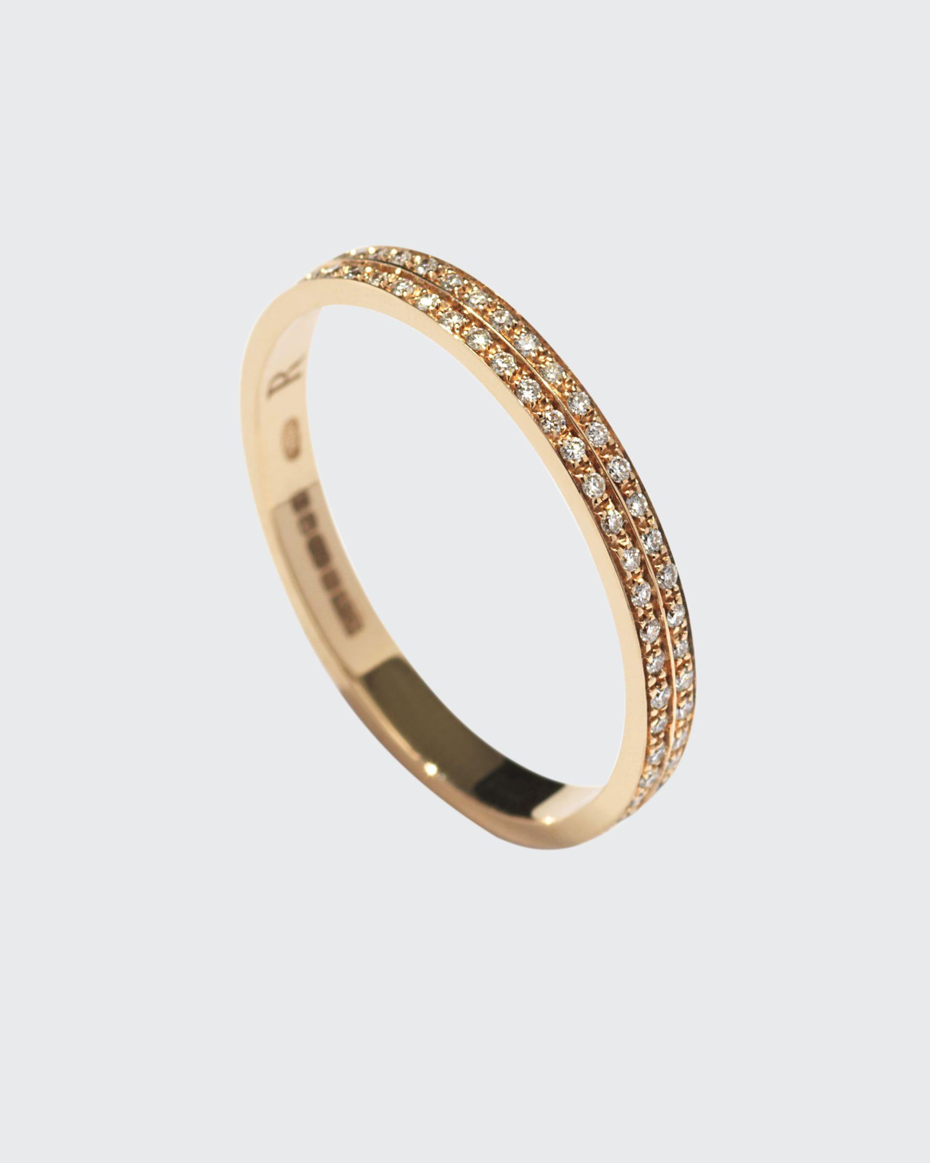 Repossi BERBERE DIAMOND BAND RING IN 18K GOLD