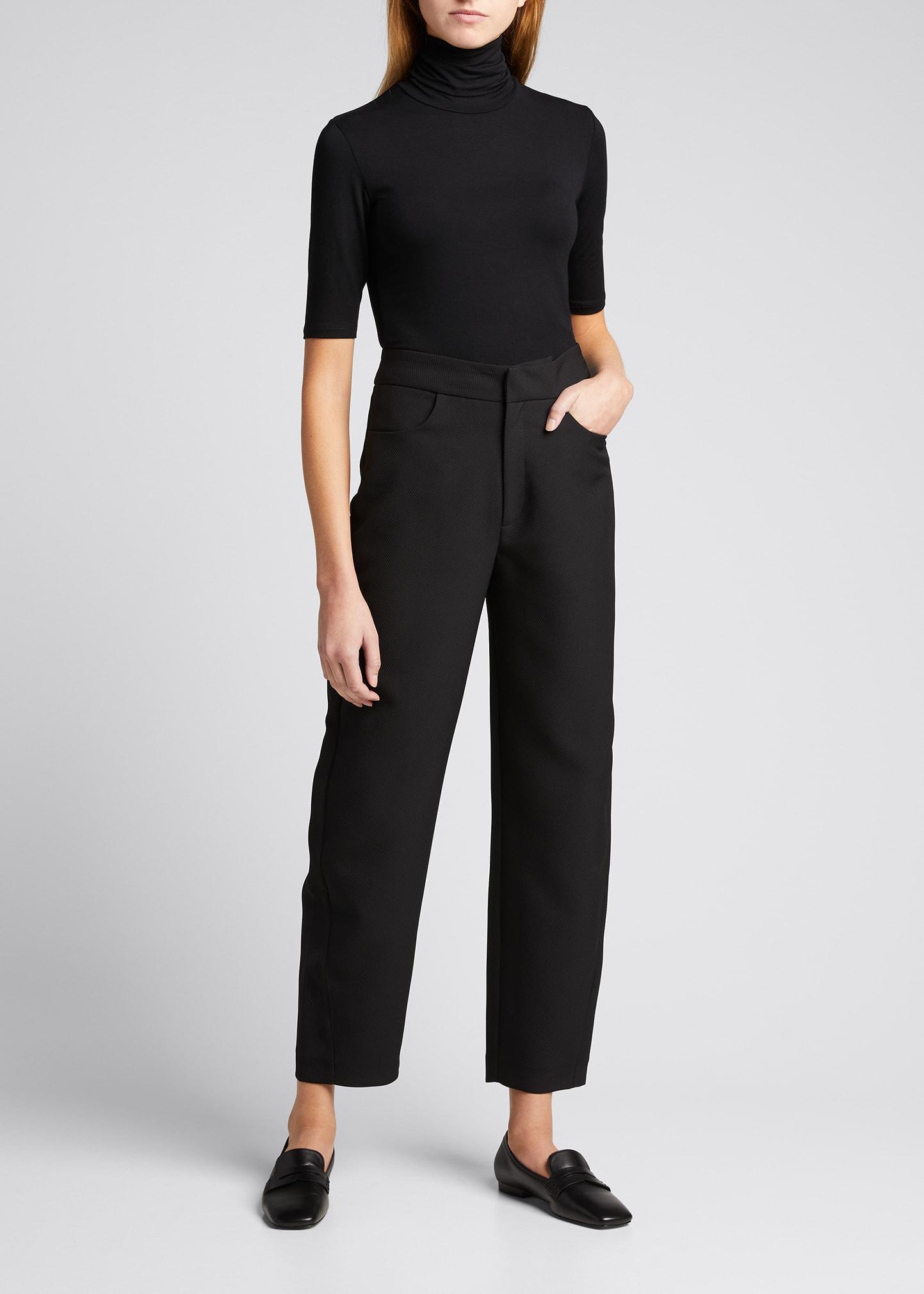 Majestic Women's Soft Touch Elbow-sleeve Turtleneck Sweater In Noir
