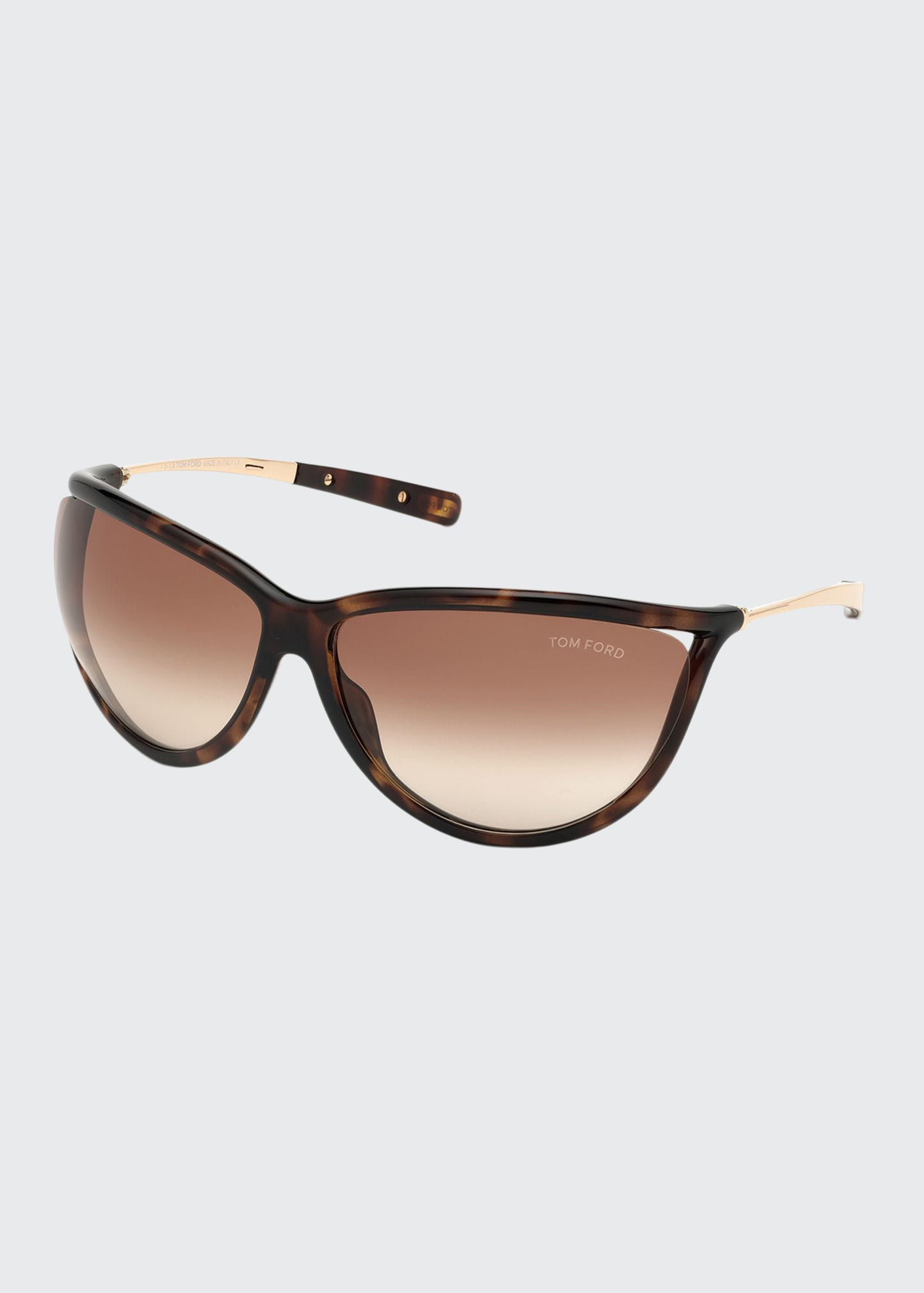 TOM FORD GRADIENT SHIELD ACETATE SUNGLASSES