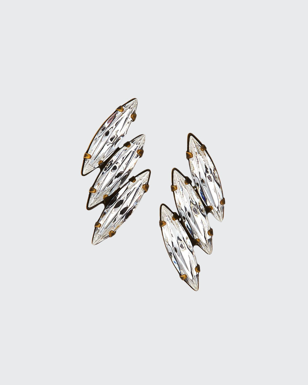 Vivian 3-Crystal Stud Earrings