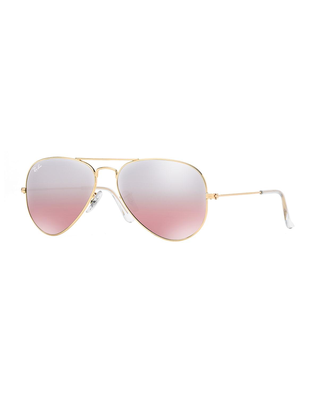 Mirrored Flash Aviator Sunglasses