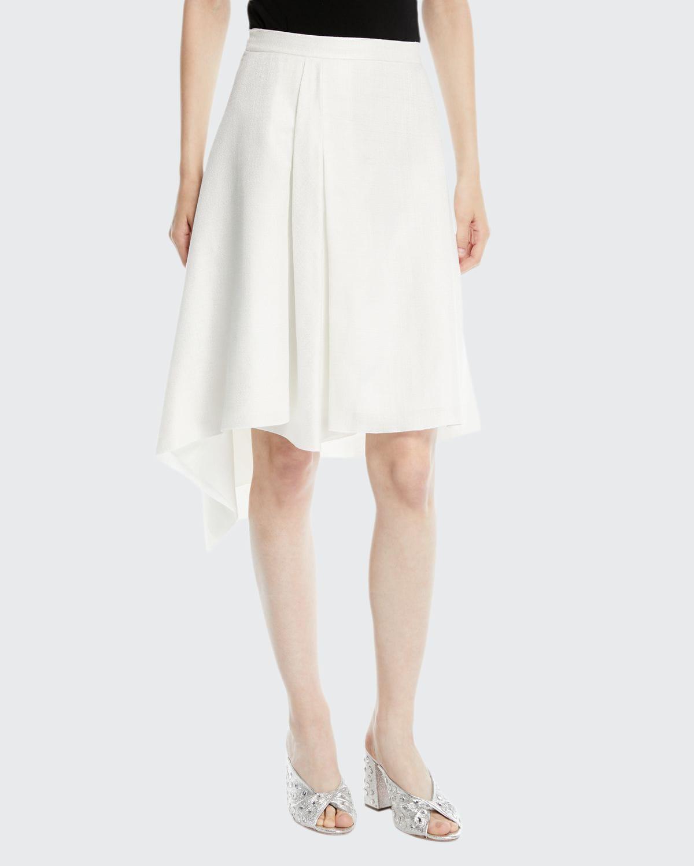 A-Line Asymmetric Midi Skirt