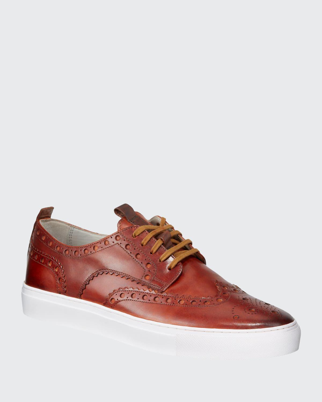Men's Leather Brogue Sneakers