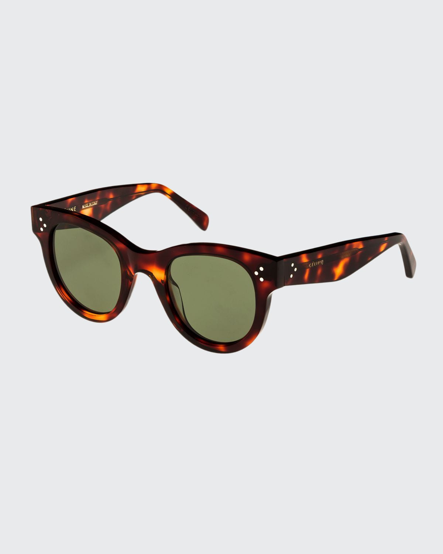 Studded Acetate Sunglasses w/ Mineral Lenses