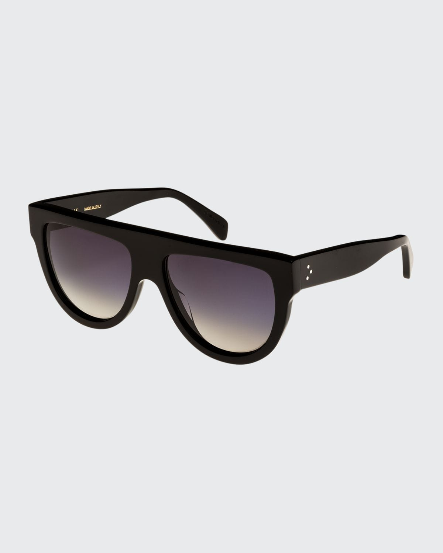 Flattop Gradient Shield Sunglasses