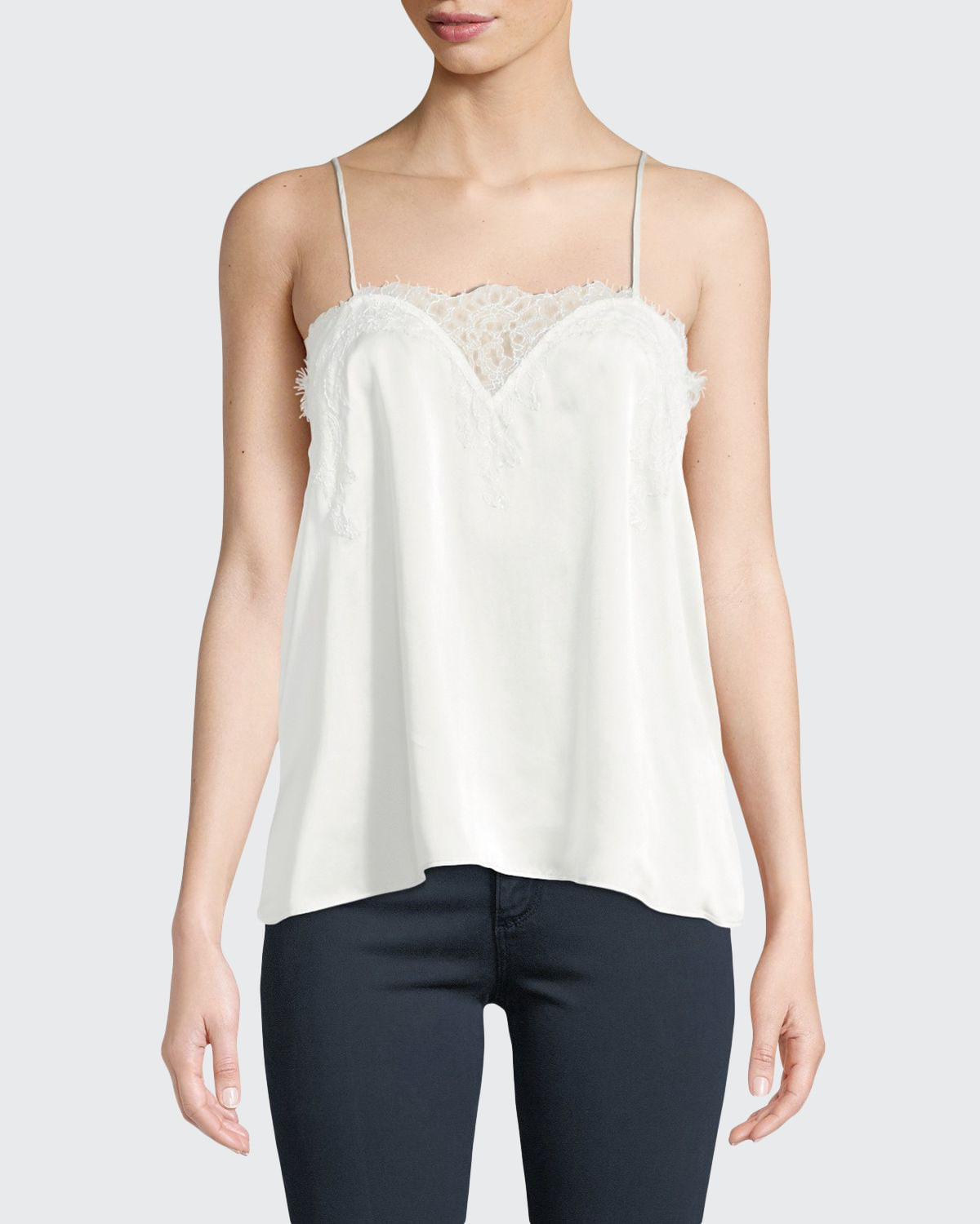 The Sweetheart Silk Charmeuse Camisole