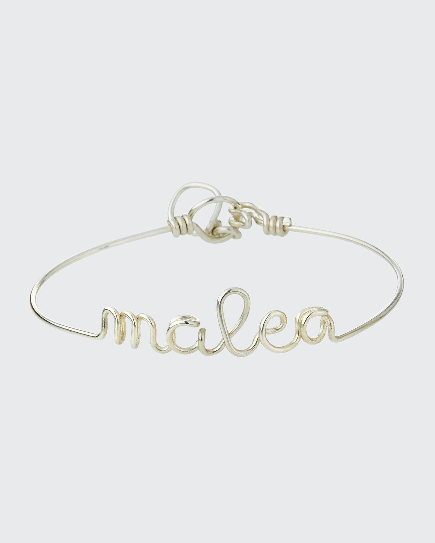 Personalized 10-Letter Wire Bracelet