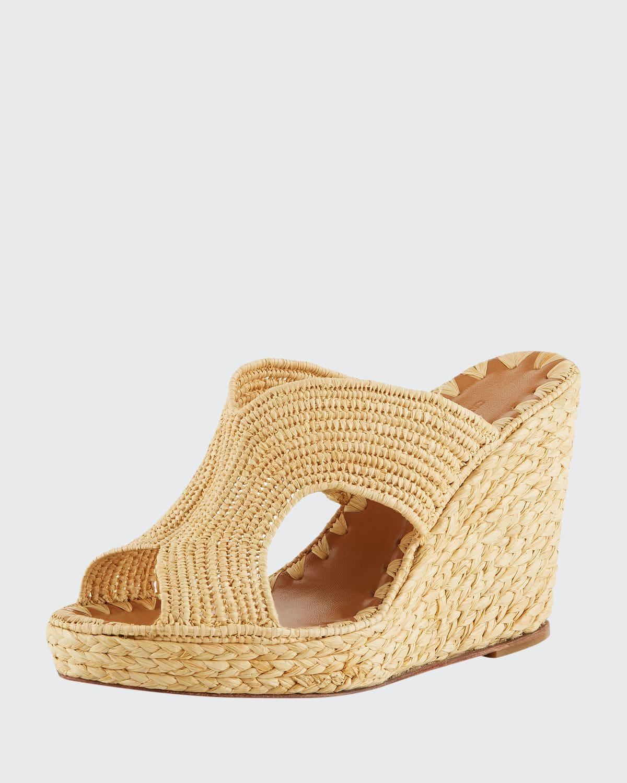 Lina Cutout Slide Wedge Sandals