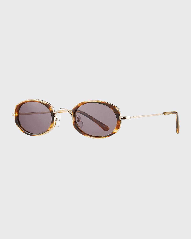 Ravello Oval Acetate & Metal Sunglasses