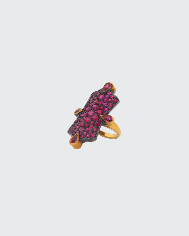 Ruby Cobblestone Ring