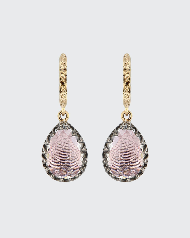 Lady Jane Small Pear Drop Huggie Earrings